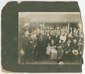 Primary view of object titled '[A group of people gathered for a birthday]'.