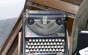 Primary view of object titled '[Remington Portable Typewriter]'.