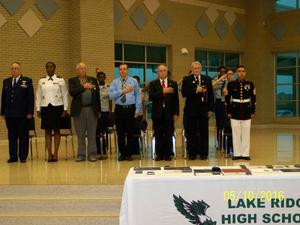Primary view of object titled '[JROTC Ceremony Pledge of Allegiance]'.