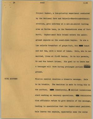 Primary view of object titled '[News Script: Bury]'.