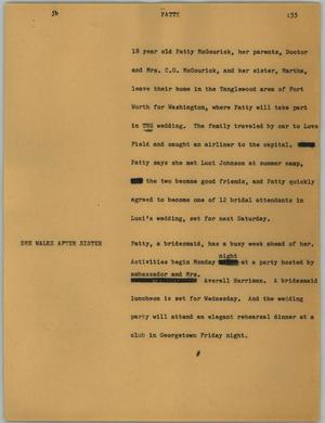 Primary view of object titled '[News Script: Patty]'.