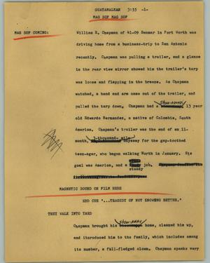 Primary view of object titled '[News Script: Guatamalean]'.