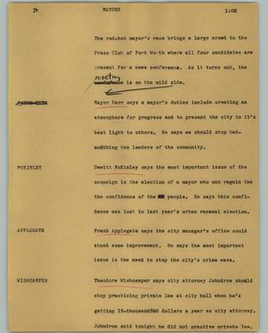 Primary view of object titled '[News Script: Mayors]'.