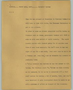 Primary view of object titled '[News Script: Monorail]'.