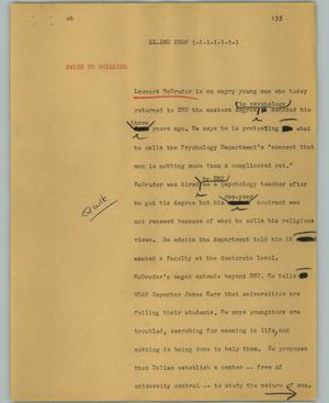 Primary view of object titled '[News Script: Ex-SMU prof]'.