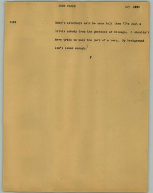 Primary view of object titled '[News Script: Ruby (Close)]'.