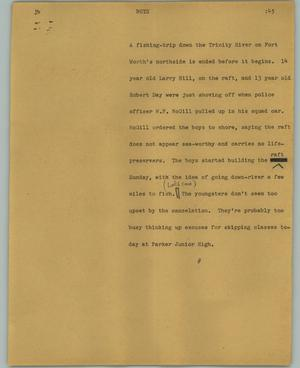 Primary view of object titled '[News Script: Boys]'.