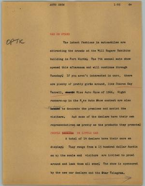 Primary view of object titled '[News Script: Auto show]'.