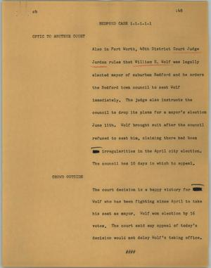 Primary view of object titled '[News Script: Bedford case]'.