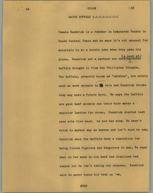 Primary view of object titled '[News Script: Water buffalo]'.