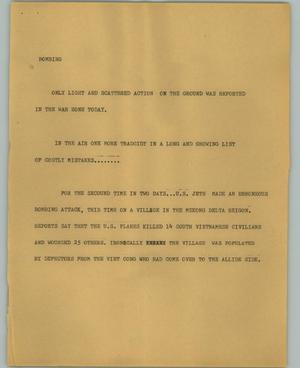 Primary view of object titled '[News Script: Bombing]'.