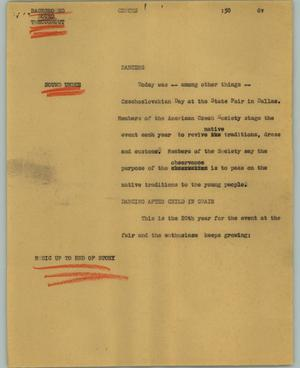 Primary view of object titled '[News Script: Czechs]'.