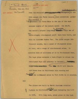 Primary view of object titled '[News Script: AFA]'.