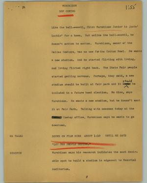 Primary view of object titled '[News Script: Murchison]'.