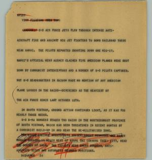 Primary view of object titled '[News Script: Viet fighting]'.