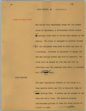 Primary view of object titled '[News Script: News briefs #2]'.