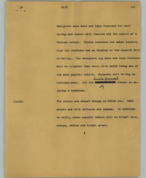 Primary view of object titled '[News Script: Mart]'.
