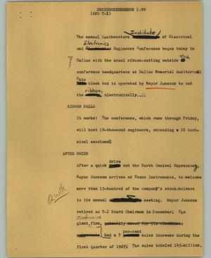 Primary view of object titled '[News Script: Swieeeeeeeeeeeco]'.
