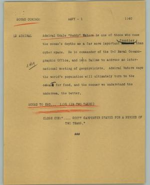 Primary view of object titled '[News Script: Navy]'.