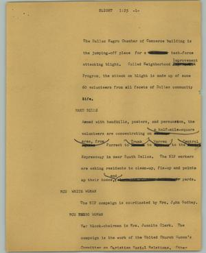 Primary view of object titled '[News Script: Blight]'.