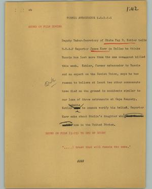 Primary view of object titled '[News Script: Former ambassador]'.