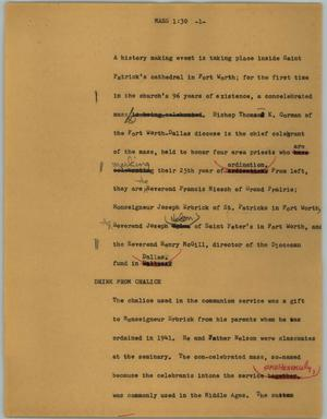 Primary view of object titled '[News Script: Mass]'.