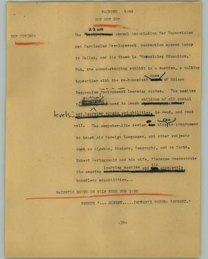 Primary view of object titled '[News Script: Machine]'.