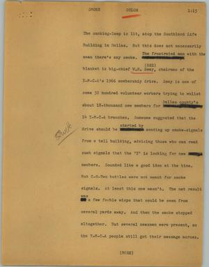 Primary view of object titled '[News Script: Smoke]'.