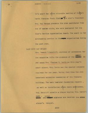 Primary view of object titled '[News Script: Awards]'.