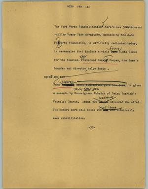 Primary view of object titled '[News Script: Wino]'.