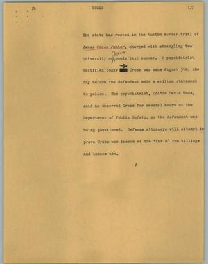 Primary view of object titled '[News Script: Cross]'.