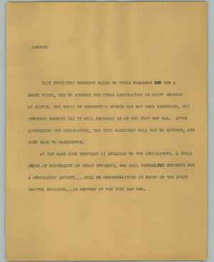 Primary view of object titled '[News Script: Humphry]'.