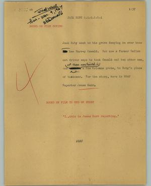 Primary view of object titled '[News Script: Jack Ruby]'.