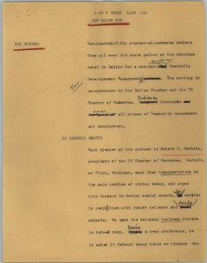 Primary view of object titled '[News Script: C of C Prexy]'.