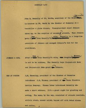 Primary view of [News Script: Connolly]