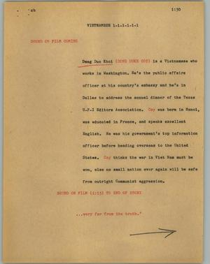 Primary view of object titled '[News Script: Vietnamese]'.