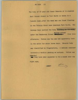 Primary view of object titled '[News Script: FW body]'.