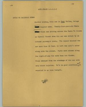 Primary view of object titled '[News Script: Auto-train]'.