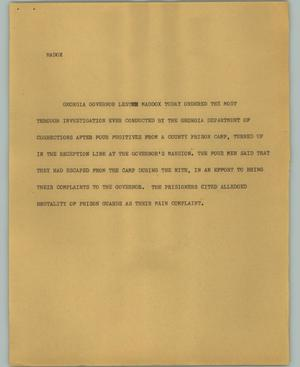 Primary view of object titled '[News Script: Maddox]'.