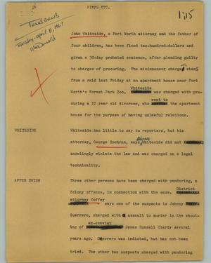 Primary view of object titled '[News Script: Pimps etc.]'.