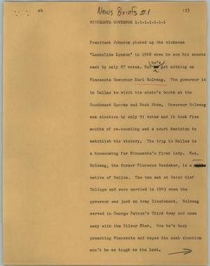 Primary view of object titled '[News Script: Minnesota governor]'.