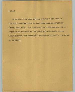 Primary view of object titled '[News Script: Copplino]'.