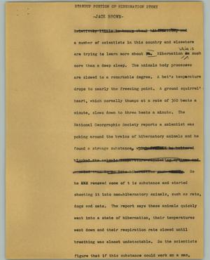Primary view of object titled '[News Script: Jack Brown]'.