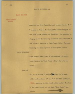 Primary view of object titled '[News Script: Add to governor]'.