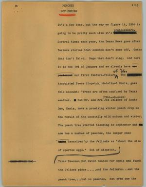 Primary view of object titled '[News Script: Peaches]'.