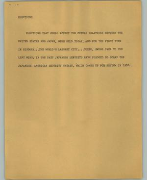 Primary view of object titled '[News Script: Elections]'.