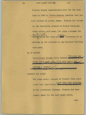 Primary view of object titled '[News Script: Fort Worth commish]'.