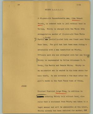 Primary view of object titled '[News Script: Whirty]'.