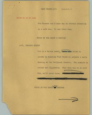 Primary view of object titled '[News Script: News briefs #4]'.