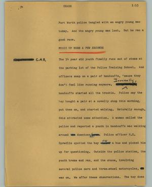 Primary view of object titled '[News Script: Chase]'.